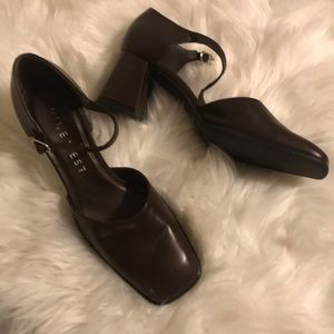 Nine West brown chunky shoes size 8
